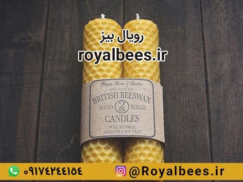 شمعهای مومی ساخته شده از برگه موم طبیعی زنبورعسل