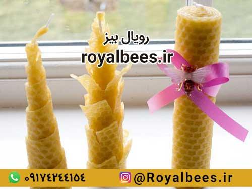 نحوه ساخت شمع موم زنبور عسل