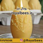 make egg colored wax candles nowruz